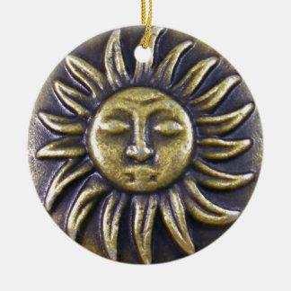 Sun Medallion Ceramic Ornament