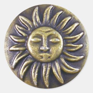 Sun Medallion Classic Round Sticker