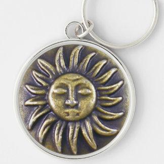 Sun Medallion Keychain