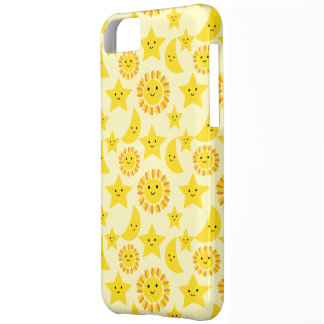 Sun Moon and star pattern Cover For iPhone 5C