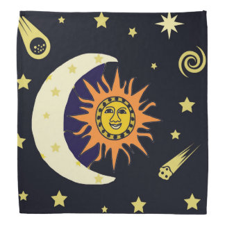 Sun Moon and Stars Bandana