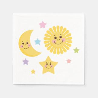 Sun, Moon and Stars Paper Napkin