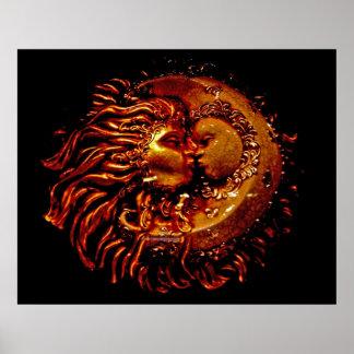 Sun & Moon Face to Face Poster