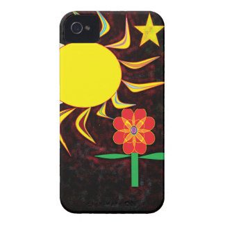 sun moon flower iPhone 4 Case-Mate case
