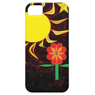 sun moon flower iPhone 5 cases