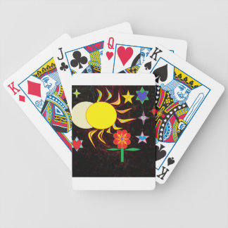 sun moon flower poker deck