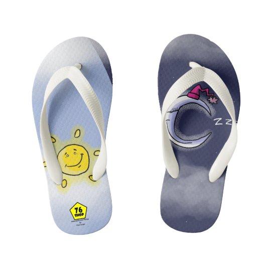 Sun & Moon Kid's Flip Flops