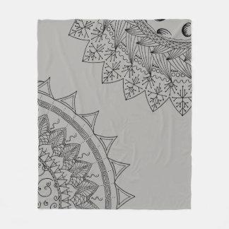 Sun & Moon Mandala Fleece Blanket