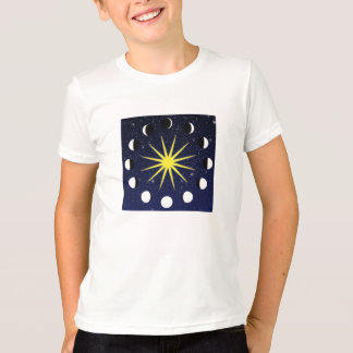 Sun, Moon Phases & Stars T-Shirt