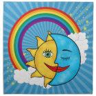 Sun Moon Rainbow Stars Napkin