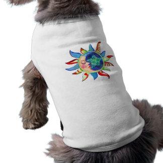 SUN, MOON & STARS by SHARON SHARPE Doggie Tshirt