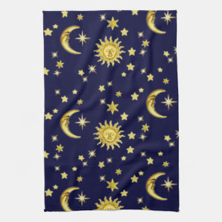 Sun, Moon & Stars Kitchen Towel