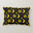 Sun Moon Stars Pattern Decorative Pillow
