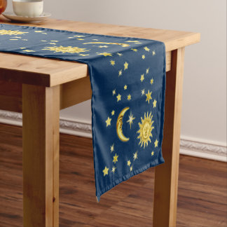 Sun, Moon & Stars Short Table Runner