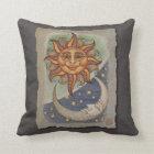 Sun Moon & Stars Throw Pillow