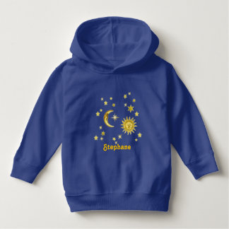 Sun, Moon & Stars with Name Hoodie