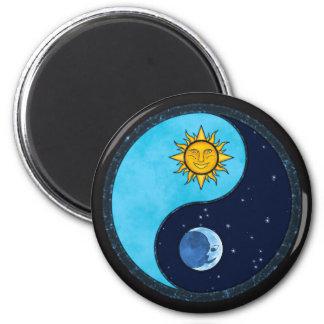 Sun Moon Yin Yang Symbol Magnet