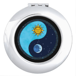 Sun Moon Yin Yang Symbol Makeup Mirror