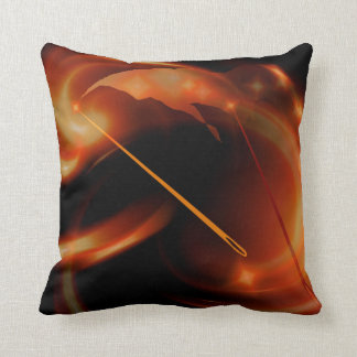 Sun Needles Throw Pillow