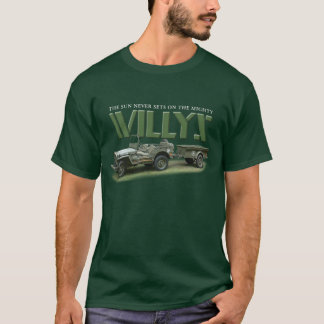 Sun Never Sets on Willys Men's Dark Color Shirt