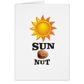 sun nut yeah card