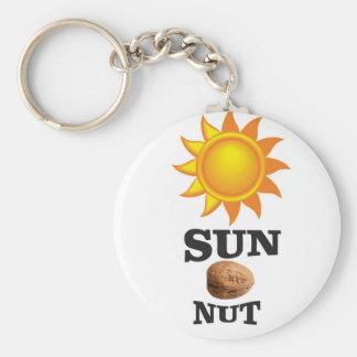 sun nut yeah keychain