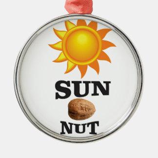 sun nut yeah metal ornament