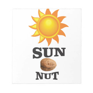 sun nut yeah notepad