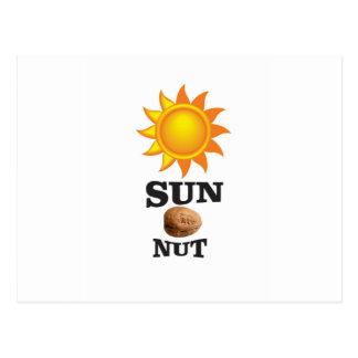 sun nut yeah postcard