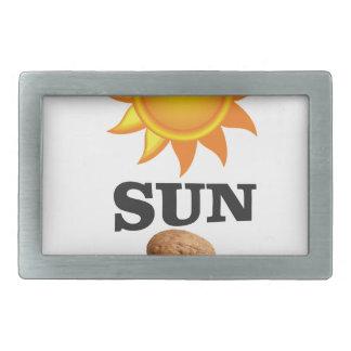 sun nut yeah rectangular belt buckle