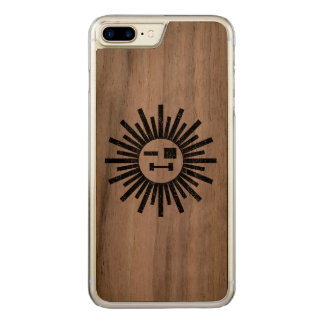 Sun of a gun carved iPhone 8 plus/7 plus case