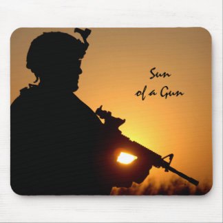 Sun of a Gun Funny Military Mouse Pad