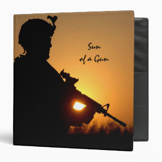 Sun of a Gun Military Binder