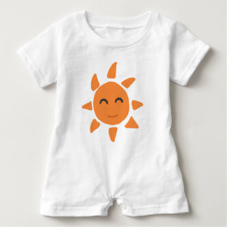 Sun of smiling face baby romper