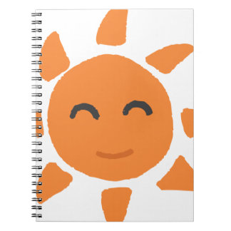 Sun of smiling face notebook