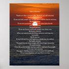 "Sun on Ocean 'Do It Anyway"" Poster"