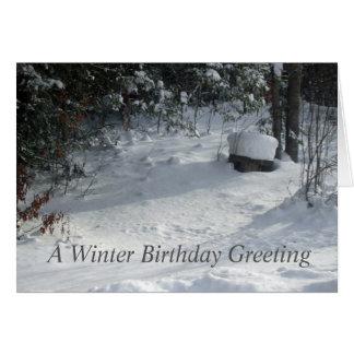 Sun on Snow Covered Yard Card