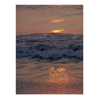 Sun on Waves Poster