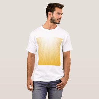 Sun Orange Wave Abstract Background, Creative Blur T-Shirt