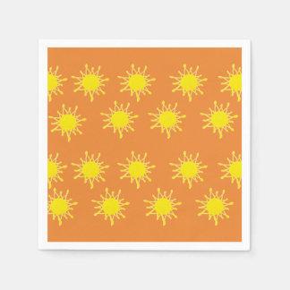 Sun Orange Yellow  Napkins