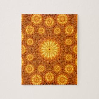 Sun Orbs Mandala Jigsaw Puzzle