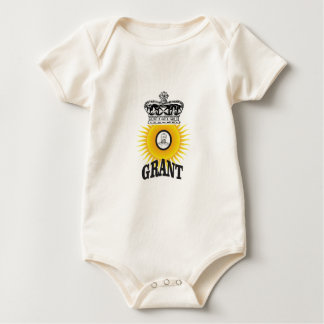sun oval king grant baby bodysuit