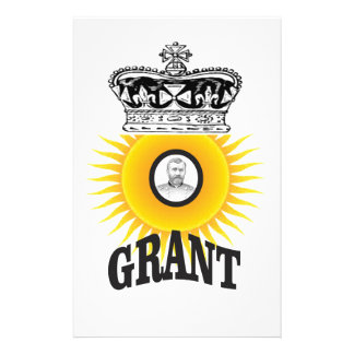 sun oval king grant personalized stationery