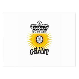 sun oval king grant postcard