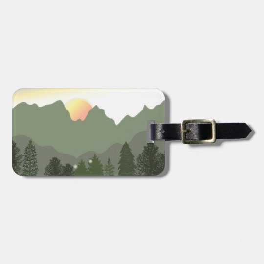 Sun Over The Mountain Tops Luggage Tag