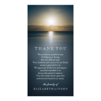 Sun Over the Ocean | Sympathy Thank You Photo Greeting Card