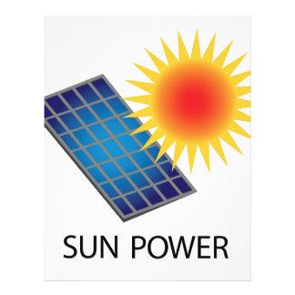 Sun Power Customized Letterhead