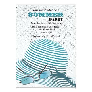 "Sun Protection Summer Party Invitation 5"" X 7"" Invitation Card"