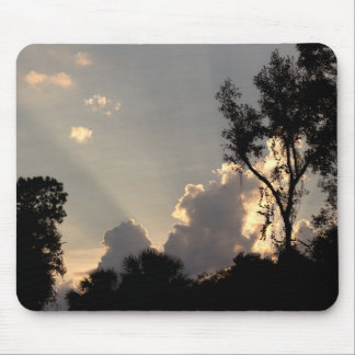 Sun Rays at Sunset Mouse Pad