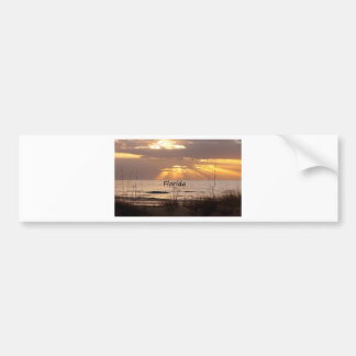 Sun Rays Florida Sunset Bumper Sticker